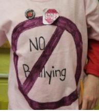 bullying sign on a T-shirt